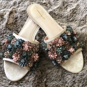 Liendo 3D Leather Flower Sandal at Anthropologie